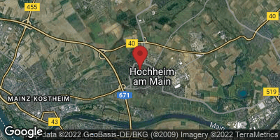 Google Map of Hochheim am Main