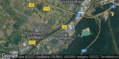 Google Map of Raunheim