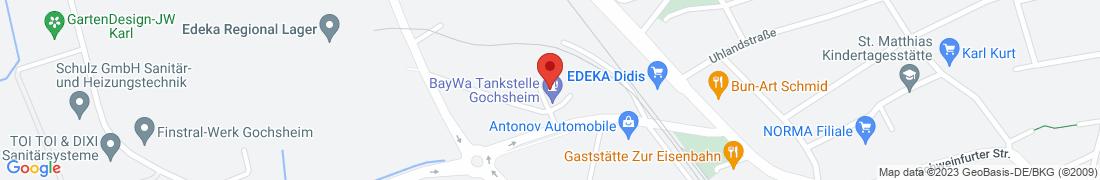 BayWa Tankstelle Gochsheim Anfahrt