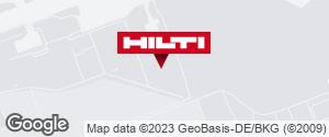 Wegbeschreibung zu Hilti Pop-Up Store Flughafen Frankfurt