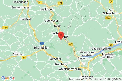 Karte Oberdiebach