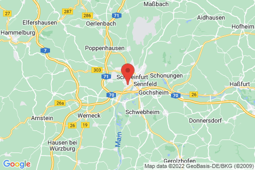 Karte Schweinfurt