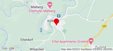 Google Map für Ferienhaus Kyllburg Talstr. 1