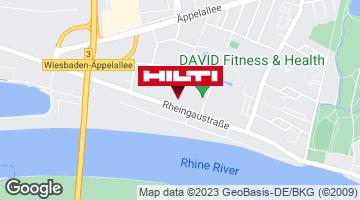 Wegbeschreibung zu Hilti Store Wiesbaden