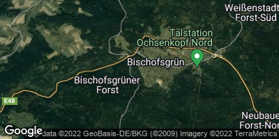 Google Map of Bischofsgrün