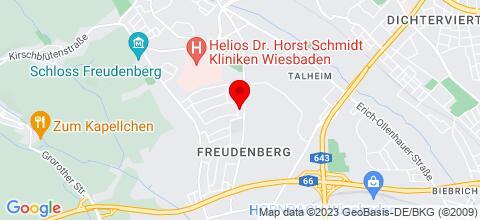 Google Map für Monteurwohnung Diefenbach 65201 Wiesbaden