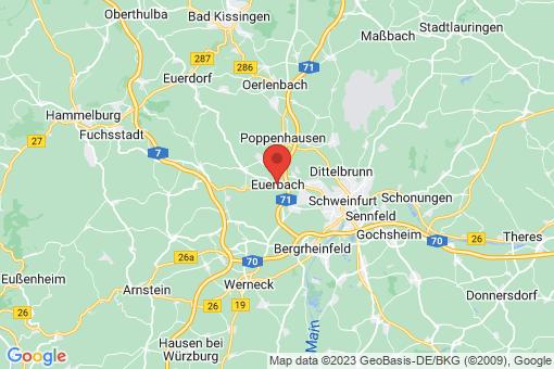 Karte Euerbach