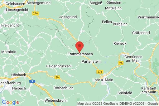 Karte Frammersbach