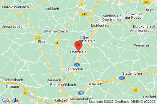 Karte Ebensfeld