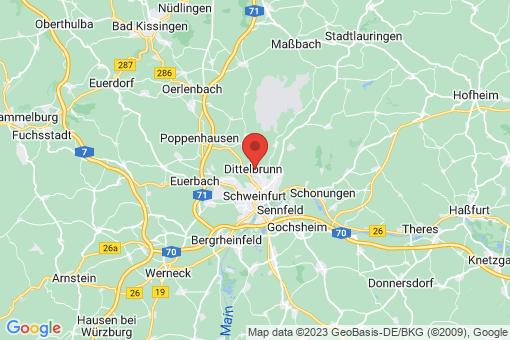 Karte Dittelbrunn