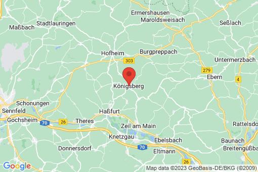 Karte Königsberg in Bayern
