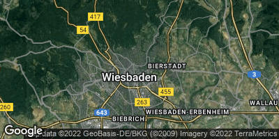 Google Map of Wiesbaden