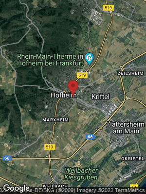 Google Map of Hofheim am Taunus