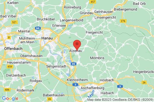 Karte Alzenau in Unterfranken