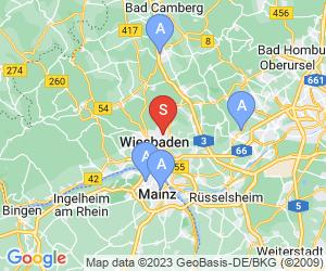 Karte für Thermalbad Aukammtal Wiesbaden