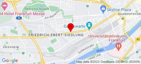 Google Map für Wohnungen in Frankfurt und Umgebung zu vermieten......