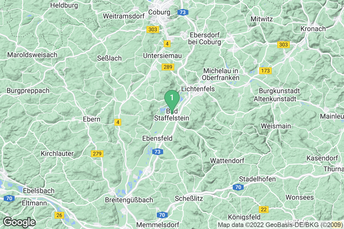 Google Map of Bad Staffelstein
