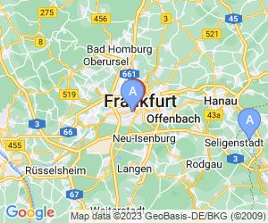 Karte für Pension Alpha Frankfurt City