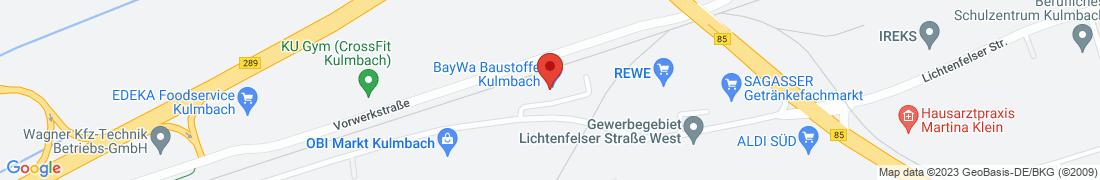 BayWa Baustoffe Kulmbach Anfahrt