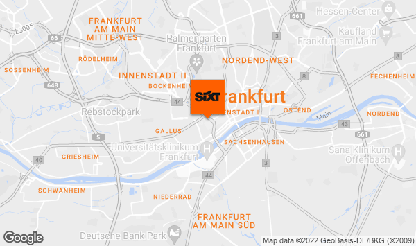 autovermietung frankfurt a m hauptbahnhof mit sixt. Black Bedroom Furniture Sets. Home Design Ideas