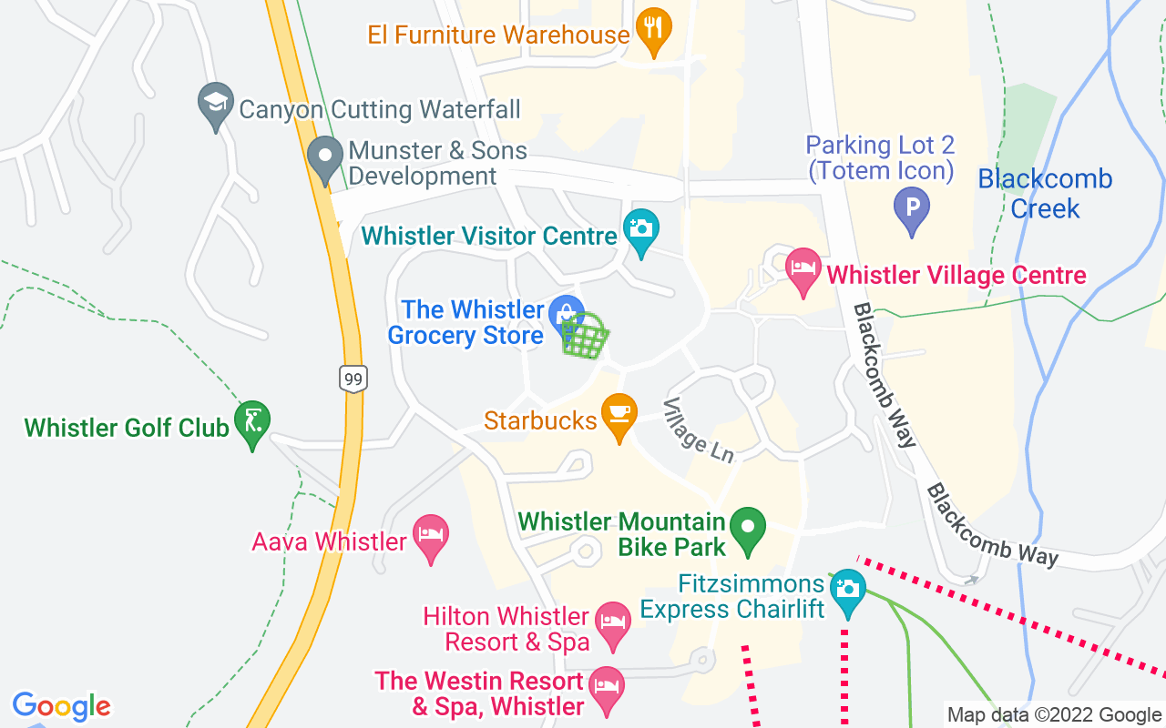 Google Map of Whistler Grocery