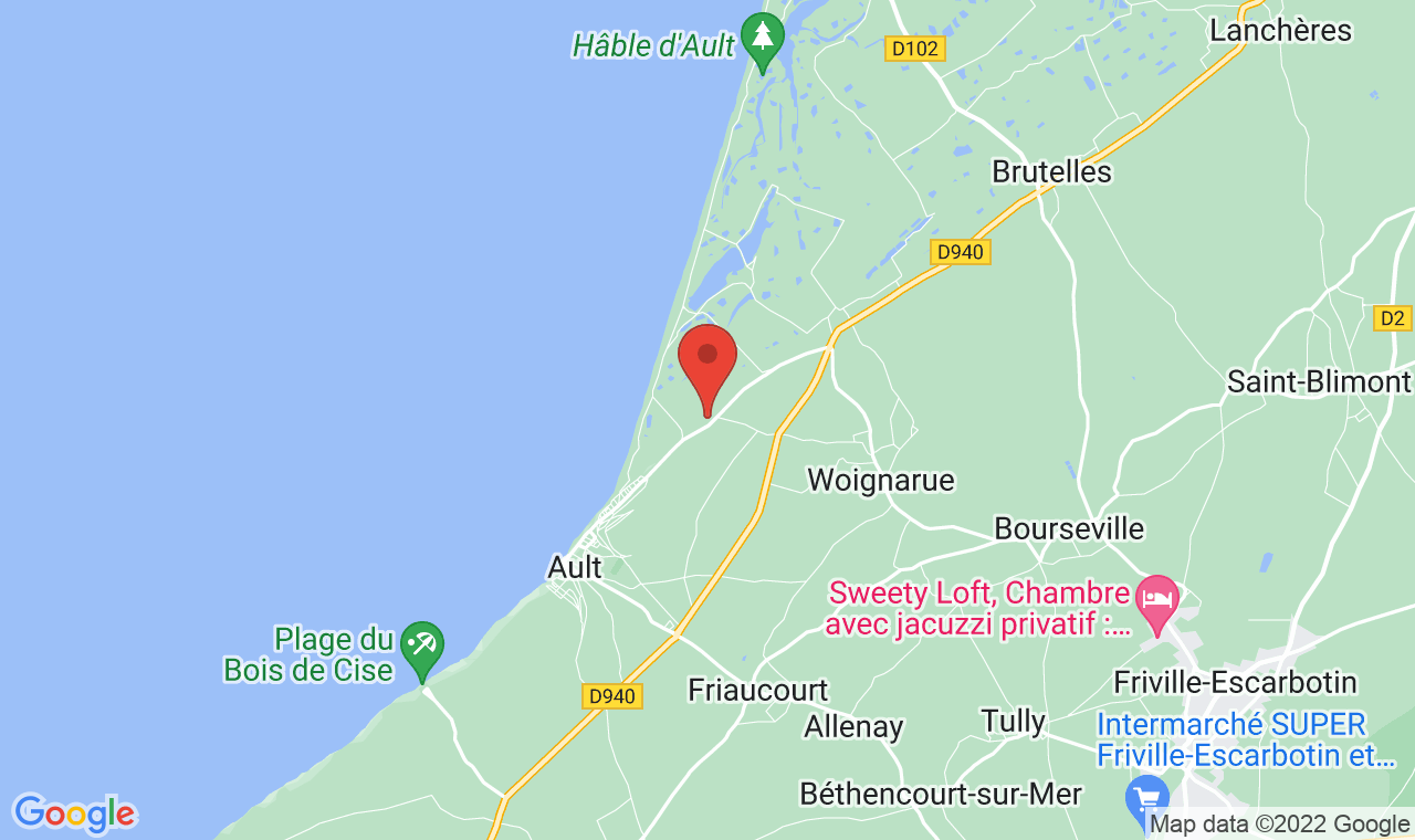 Access map bed breakfast baie de somme le h ble in for Chambre hote treport