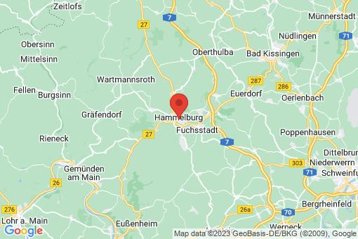 Karte Hammelburg