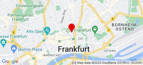 Google Map für Im Herzen von Frankfurt-direkt am Zoo!
