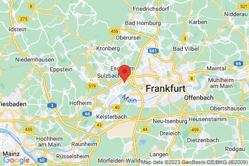 Karte Frankfurt