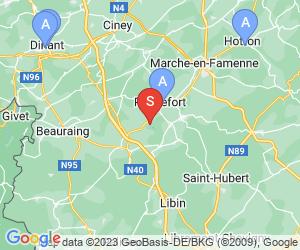 Karte für Grottes de Han-sur-Lesse