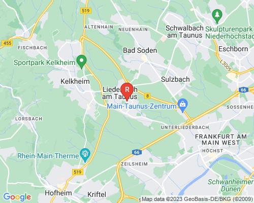 Google Karte von Rohrreinigung Liederbach am Taunus