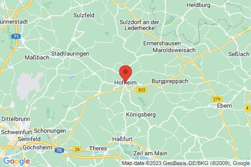 Karte Hofheim in Unterfranken