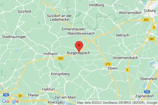 Karte Burgpreppach