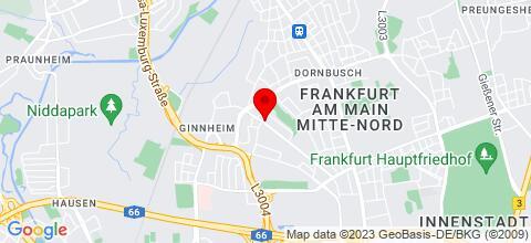 Google Map für Möblierte 4-zimmer Wohnung mitten in FFM