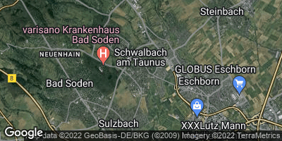 Google Map of Schwalbach am Taunus