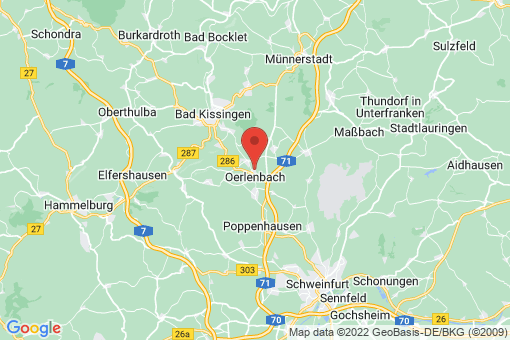 Karte Oerlenbach
