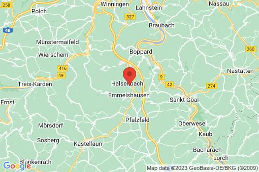 Karte Halsenbach