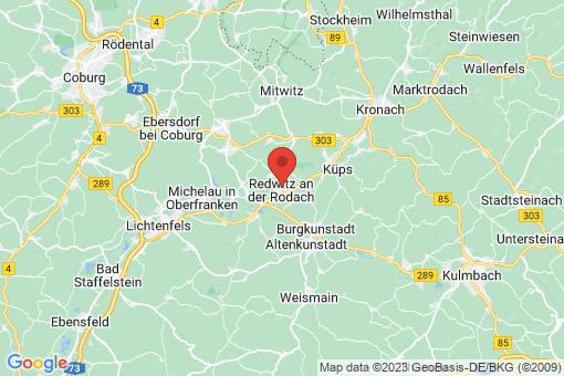Karte Redwitz an der Rodach