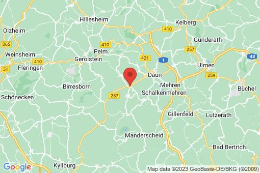 Karte Oberstadtfeld
