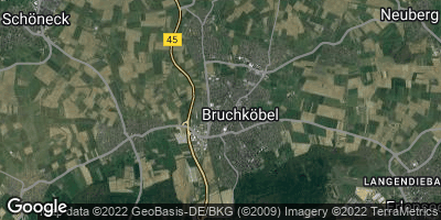 Google Map of Bruchköbel