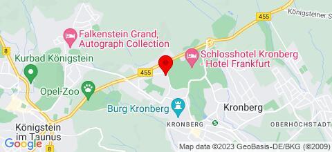 Google Map für Monteurwohnungen bei Frankfurt