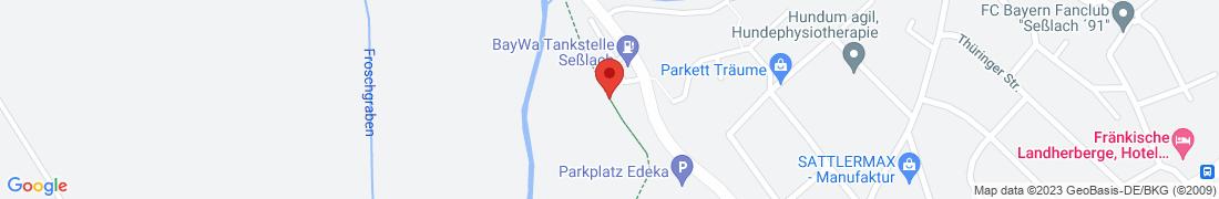 BayWa Tankstelle Seßlach Anfahrt