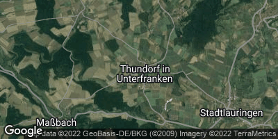 Google Map of Thundorf in Unterfranken
