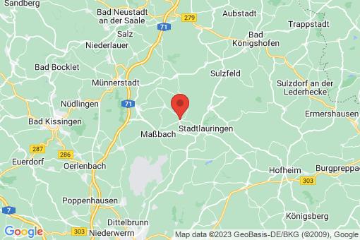 Karte Thundorf in Unterfranken