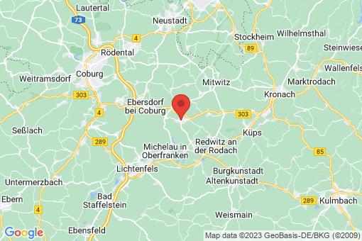 Karte Weidhausen bei Coburg