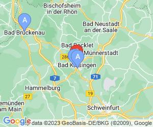 Karte für Städtisches Hallenbad Bad Kissingen
