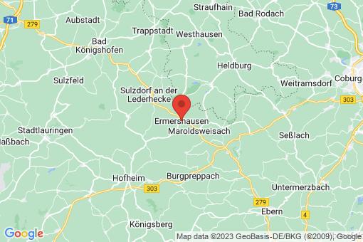 Karte Ermershausen