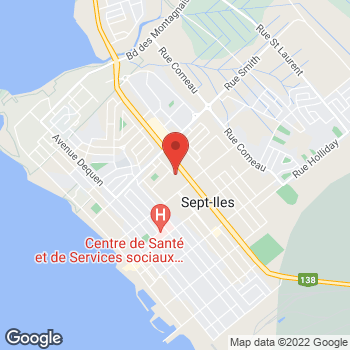 Map of Bureau en Gros Services d'impressions et de marketing at 649 boulevard Laure, Sept-Îles, QC G4R 1X8