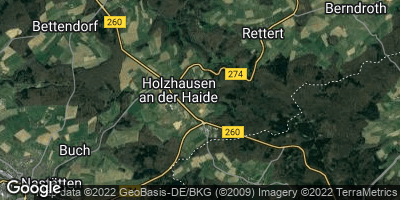 Google Map of Holzhausen an der Haide