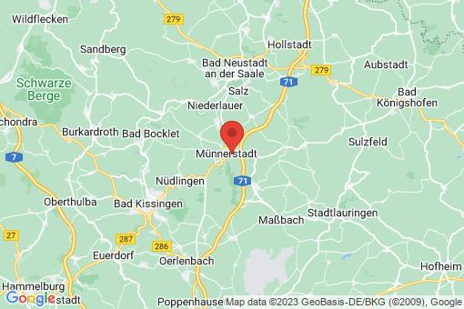 Karte Münnerstadt